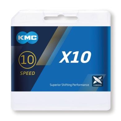 KMC X10 Łańcuch 10 rzędowy 114 ogniw + spinka