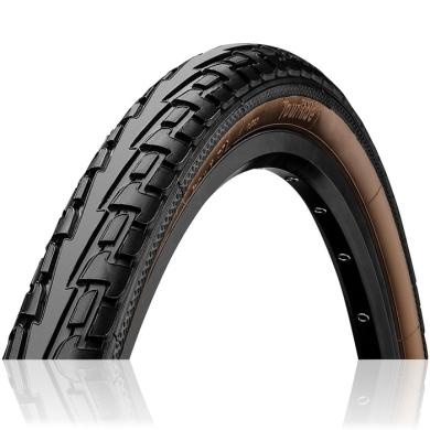 Continental Ride Tour 26-27,5 ExtraPuncture Belt Opona rowerowa drutowa czarno brązowa