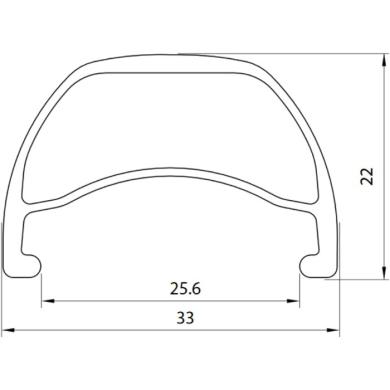 """Dartmoor Shield Obręcz DH FR 27.5"""" matowa czarna anodowana"""