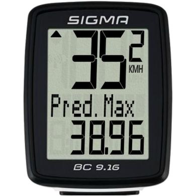 Sigma BC 7.16 Licznik rowerowy przewodowy 7 funkcji