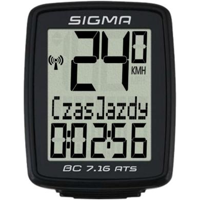 Sigma BC 7.16 ATS Licznik rowerowy bezprzewodowy 7 funkcji