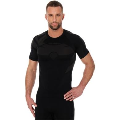 Brubeck Dry Koszulka termoaktywna z krótkim rękawem męska czarno grafitowa