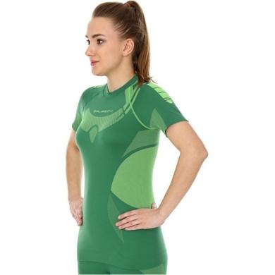 Brubeck Dry Koszulka termoaktywna z krótkim rękawem damska zielono limonkowa