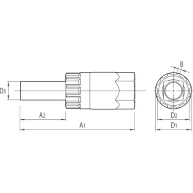 Unior Klucz montażu demontażu kaset na piastach przelotowych 12mm 1670.9/4
