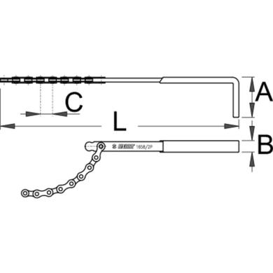 Unior Miernik zużycia koronki kasety 1658/2P