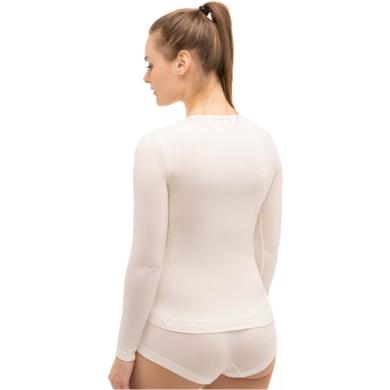 Brubeck Comfort Wool Koszulka damska z długim rękawem kremowa