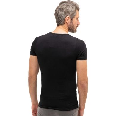 Brubeck Comfort Wool Koszulka męska z krótkim rękawem czarna