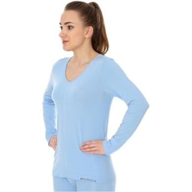Brubeck Comfort Night Koszulka nocna damska długi rękaw błękitna
