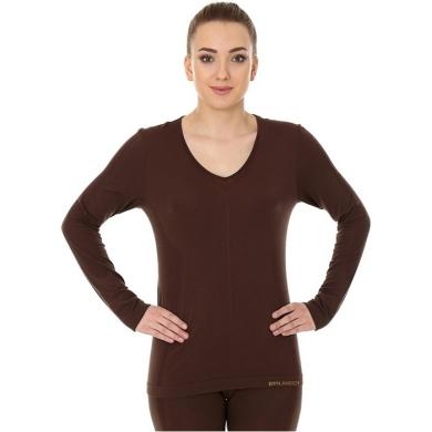 Brubeck Comfort Night Koszulka nocna damska długi rękaw czekoladowa