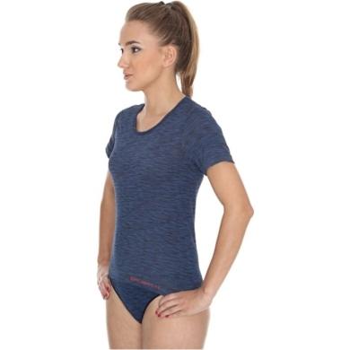 Brubeck Fusion Koszulka damska krótki rękaw ciemnoniebieska