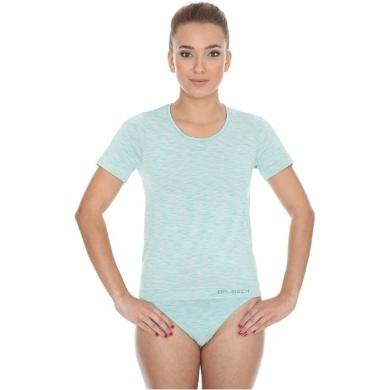 Brubeck Fusion Koszulka damska krótki rękaw jasnozielona