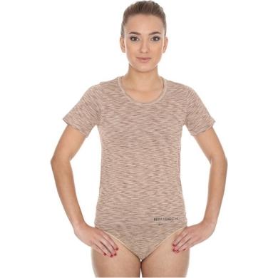 Brubeck Fusion Koszulka damska krótki rękaw beżowa