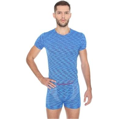 Brubeck Fusion Koszulka męska krótki rękaw niebieska