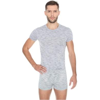 Brubeck Fusion Koszulka męska krótki rękaw popielata