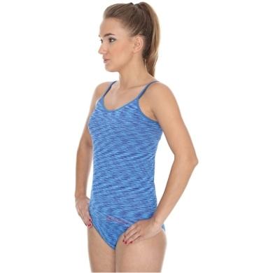 Brubeck Camisole Fusion Koszulka damska na ramiączkach niebieska