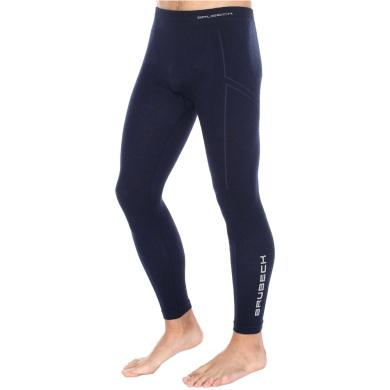Brubeck Extreme Wool Spodnie męskie długa nogawka granatowe