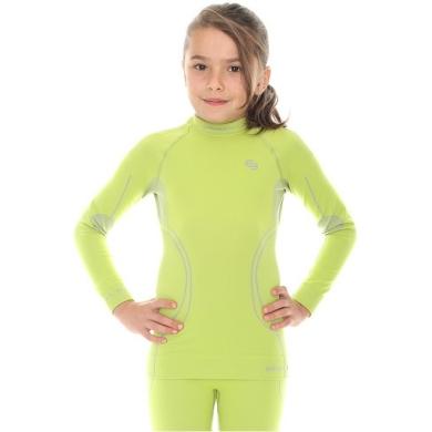 Brubeck Thermo Bluza dziewczęca limonkowa