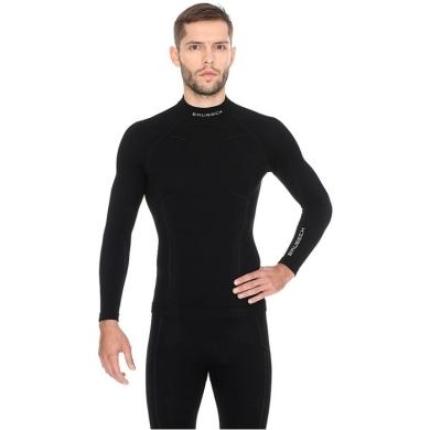 Brubeck Extreme Wool Merino Komplet bielizny męskiej czarny