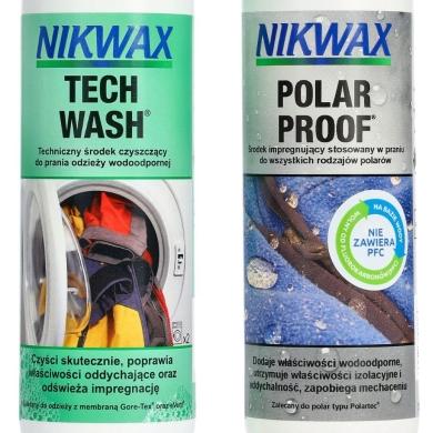 Nikwax Tech Wash + Polar Proof Zestaw pielęgnacyjny do odzieży polarowej