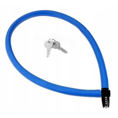 Kryptonite Keeper 665 KC Zapięcie rowerowe linka klucz niebieskie