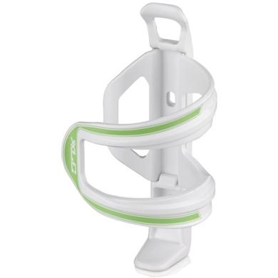XLC BC S06 Koszyk na bidon lewostronny biało zielony