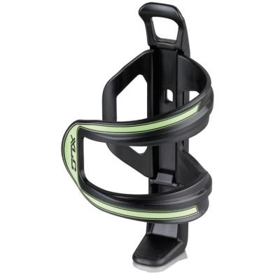 XLC BC S06 Koszyk na bidon lewostronny czarno zielony