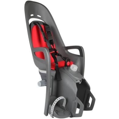 Fotelik dziecięcy Hamax Zenith szaro czerwony + adapter na bagażnik