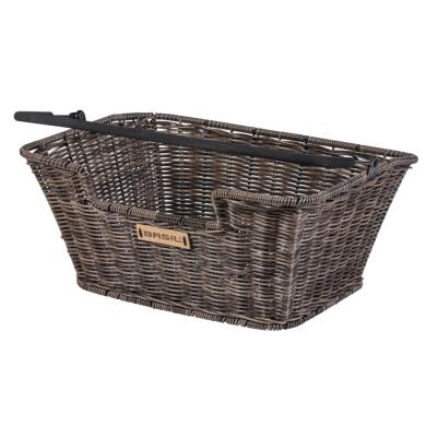 Basil Capri Rattan Look Flex Koszyk rowerowy przedni/tylny brązowy