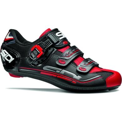 Sidi Genius 7 Buty rowerowe szosowe SPD czarno czerwone