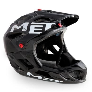 MET Parachute HES Kask MTB DH Enduro atracytowo czarny