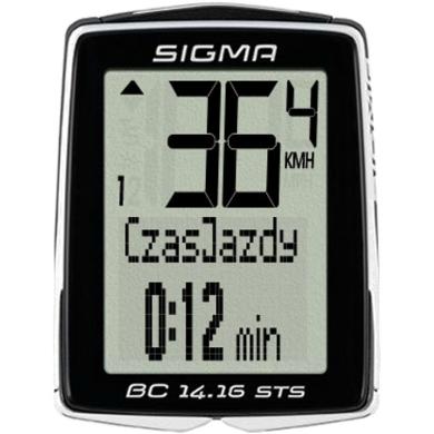 Sigma BC 14.16 STS CAD Licznik rowerowy bezprzewodowy 14 funkcji