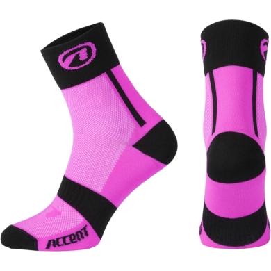 Accent Jump Skarpetki rowerowe różowe