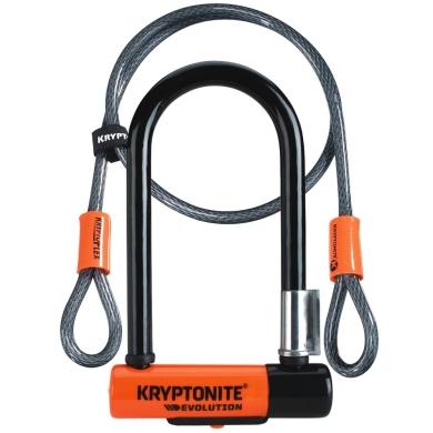 Kryptonite Evolution Mini 7 Double Deadbolt + Kryptoflex Cable Zapięcie rowerowe