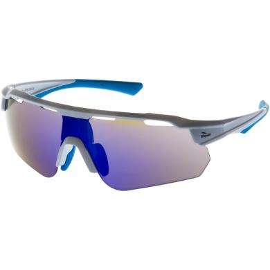 Rogelli Mercury Okulary rowerowe biało niebieskie 3 soczewki