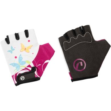 Accent Daisy Rękawiczki rowerowe dziecięce biało fioletowe