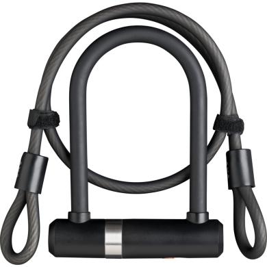 AXA Newton UL Mini Zapięcie rowerowe 150mm 14mm + linka Double Loop 8mm 100cm