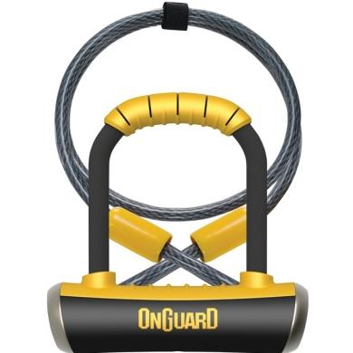Onguard PitBull DT 8008 Zapięcie U-lock 14mm x 90mm x 140mm + lina i uchwyt mocujący