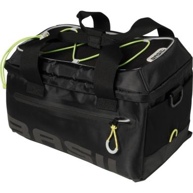 Basil Miles Trunkbag Torba na bagażnik black lime 7L