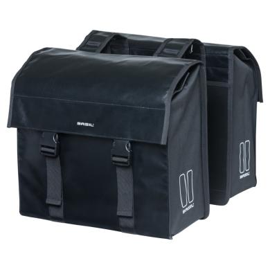 Basil Urban Load Double Bag Sakwa rowerowa miejska podwójna czarna 48-53L