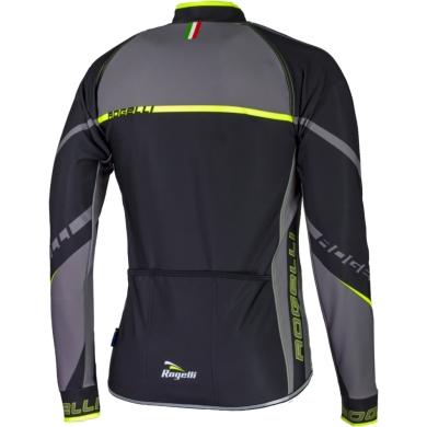Rogelli Andrano 2.0 Koszulka rowerowa długi rękaw czarno żółta