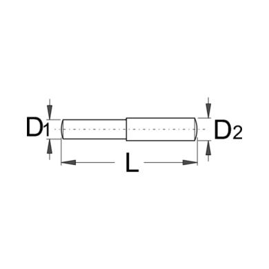 Unior Wymienialny trzpień do śrubowego klucza do łańcucha 1647.1/4A 2 sztuki