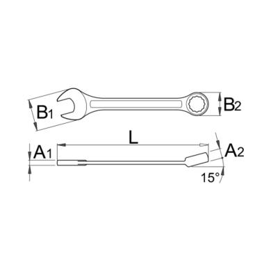 Unior Klucz płaskooczkowy typ krótki 125/1 9mm