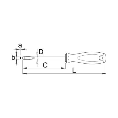 Unior Wkrętak płaski TBI 605TBI 0,4 x 2,5mm
