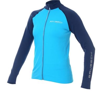 Brubeck Athletic Bluza damska lazurowo niebieska