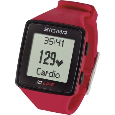 Sigma iD.Life Zegarek z pulsometrem czerwony