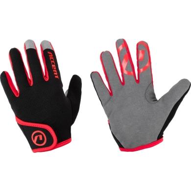 Accent Jockey Rękawiczki dziecięce rowerowe z długimi palcami czarno czerwone