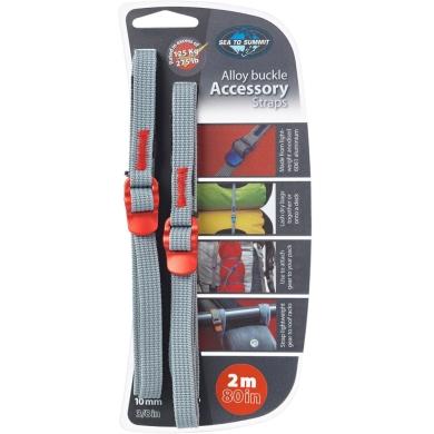 Sea to Summit Accesory Straps Pasy mocujące bagaż z klamrami 10mm red