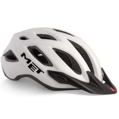 MET Crossover Kask rowerowy biały