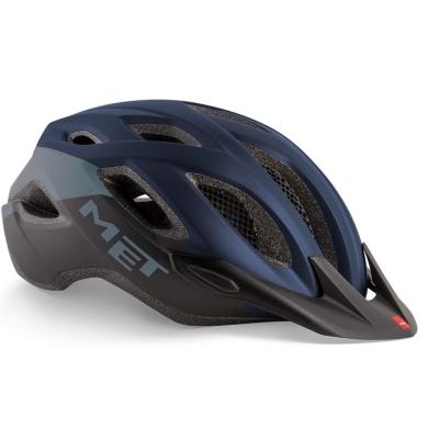 MET Crossover Kask rowerowy czarno niebieski