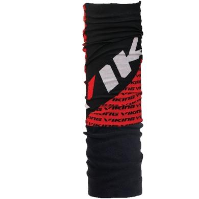 Viking Windstopper Komin z mikrofibry czarno czerwono biały logo